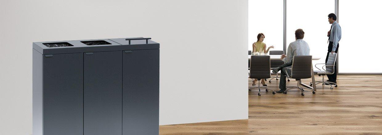 Afvalsystemen voor op kantoor, zorginstelling en scholen.