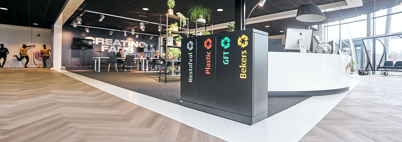 Afvalsystemen op kantoren