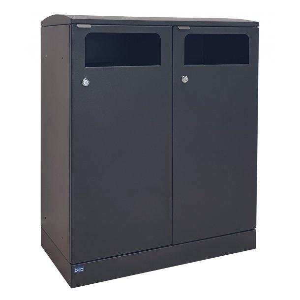 Dobbelt udendørs affaldsbeholder 2x 100 liter