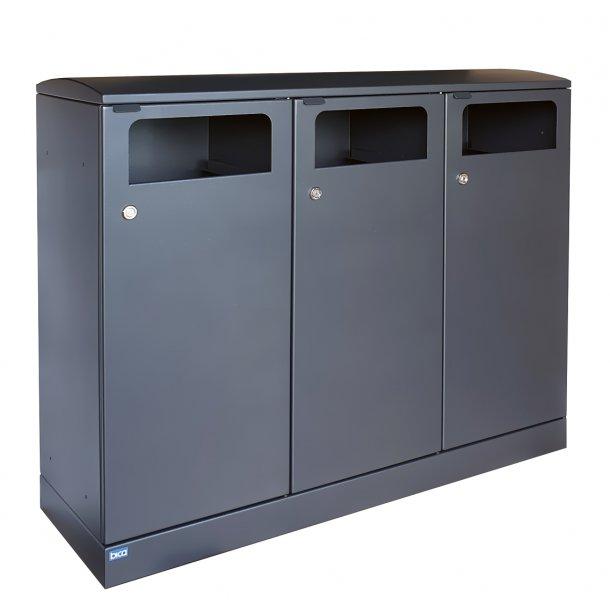 3x100 Liter udendørs affaldsbeholder